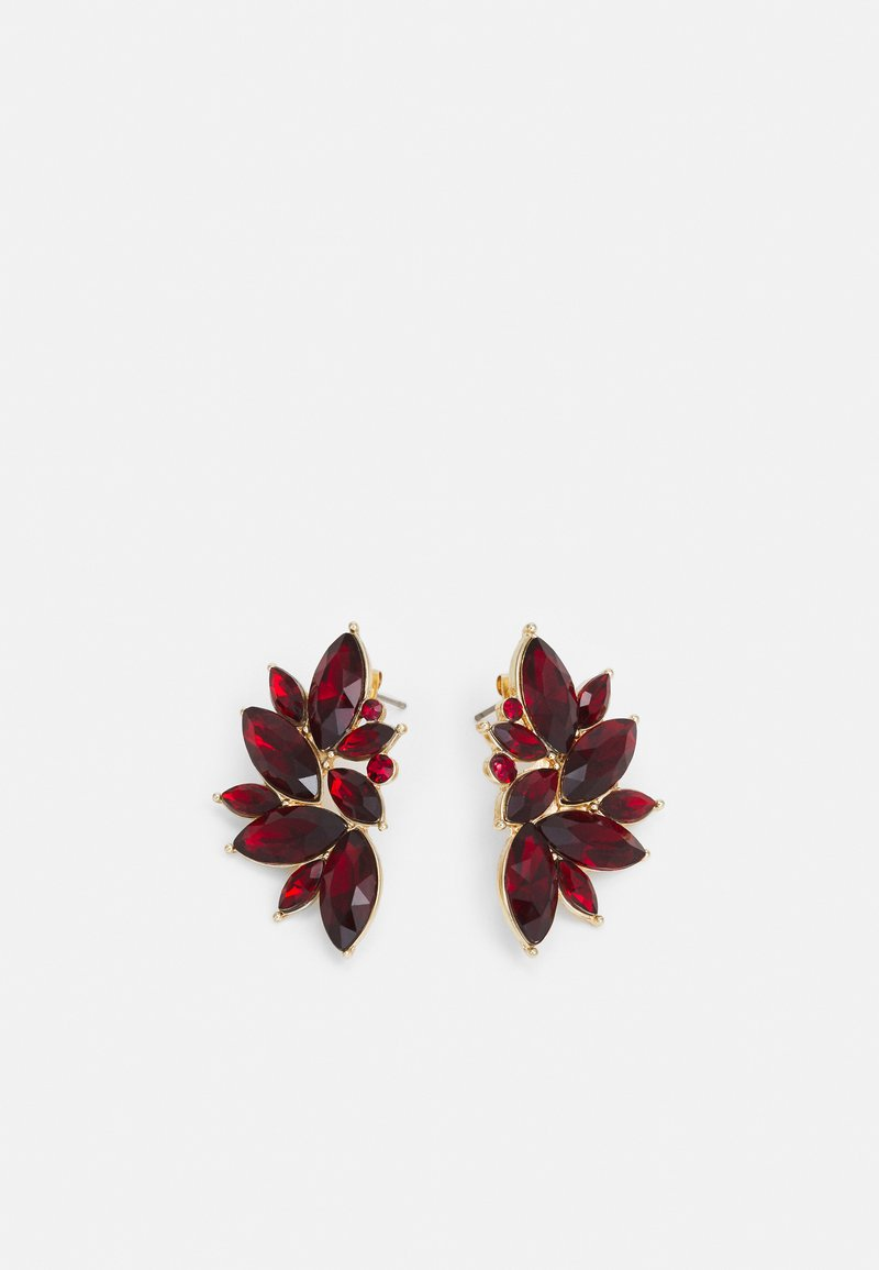 Pieces - PCSARAFIA EARRINGS - Earrings - gold-coloured/red
