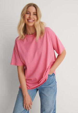 Basic T-shirt - pink melange