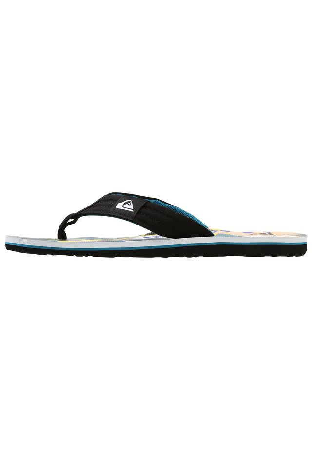 MOLOKAI LAYBACK - Bade-Zehentrenner - black/white/blue