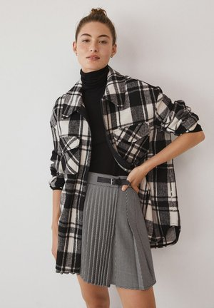 GRUNGE - Pleated skirt - šedá