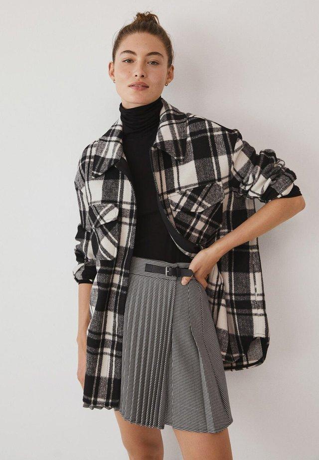 GRUNGE - Pleated skirt - šedá