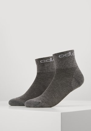 SOCKS QUARTER ACTIVE 2 PACK - Sports socks - grey melange