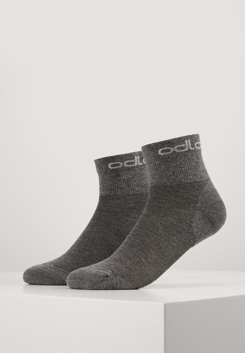 ODLO - SOCKS QUARTER ACTIVE 2 PACK - Sportovní ponožky - grey melange