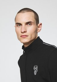 KARL LAGERFELD - ZIP JACKET - Zip-up sweatshirt - black - 3