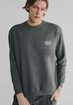 MORNING PERSON - Sweatshirt - dark grey