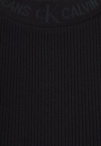 Calvin Klein Jeans - LOGO TRIM TEE - Print T-shirt - black - 6