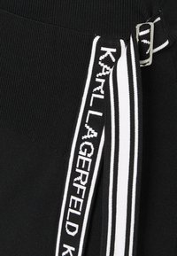 KARL LAGERFELD - LOGO TAPE WRAP SKIRT - Pencil skirt - black - 5