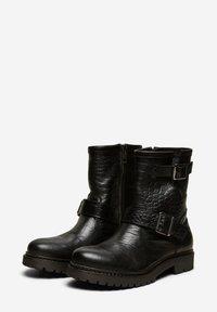 Selected Femme - Cowboy/biker ankle boot - black - 3