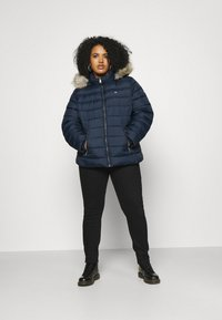 Tommy Jeans Curve - ESSENTIAL HOODED JACKET - Winter jacket - twilight navy - 1