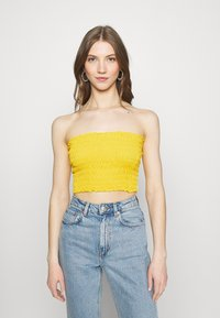 Missguided - SHEARED BANDEAU 2 PACK  - Top - black/mustard - 3