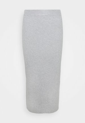 GRETA SKIRT - Falda de tubo - light grey melange