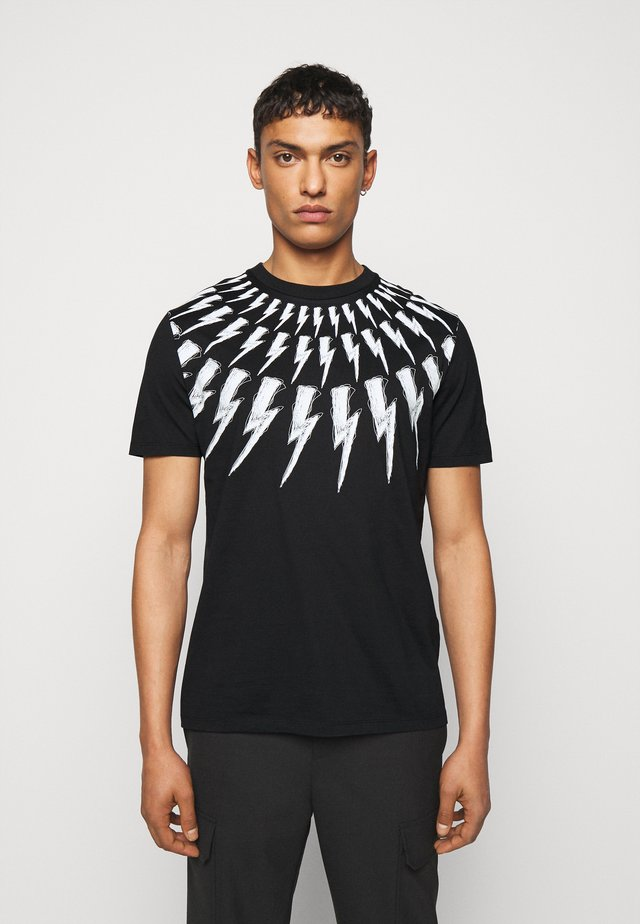 SCRIBBLE FAIR  ISLE THUNDERBOLT  - T-shirt imprimé - black/white