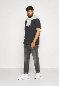 Johnny Bigg - ESSENTIAL V NECK TEE - Basic T-shirt - charcoal - 1