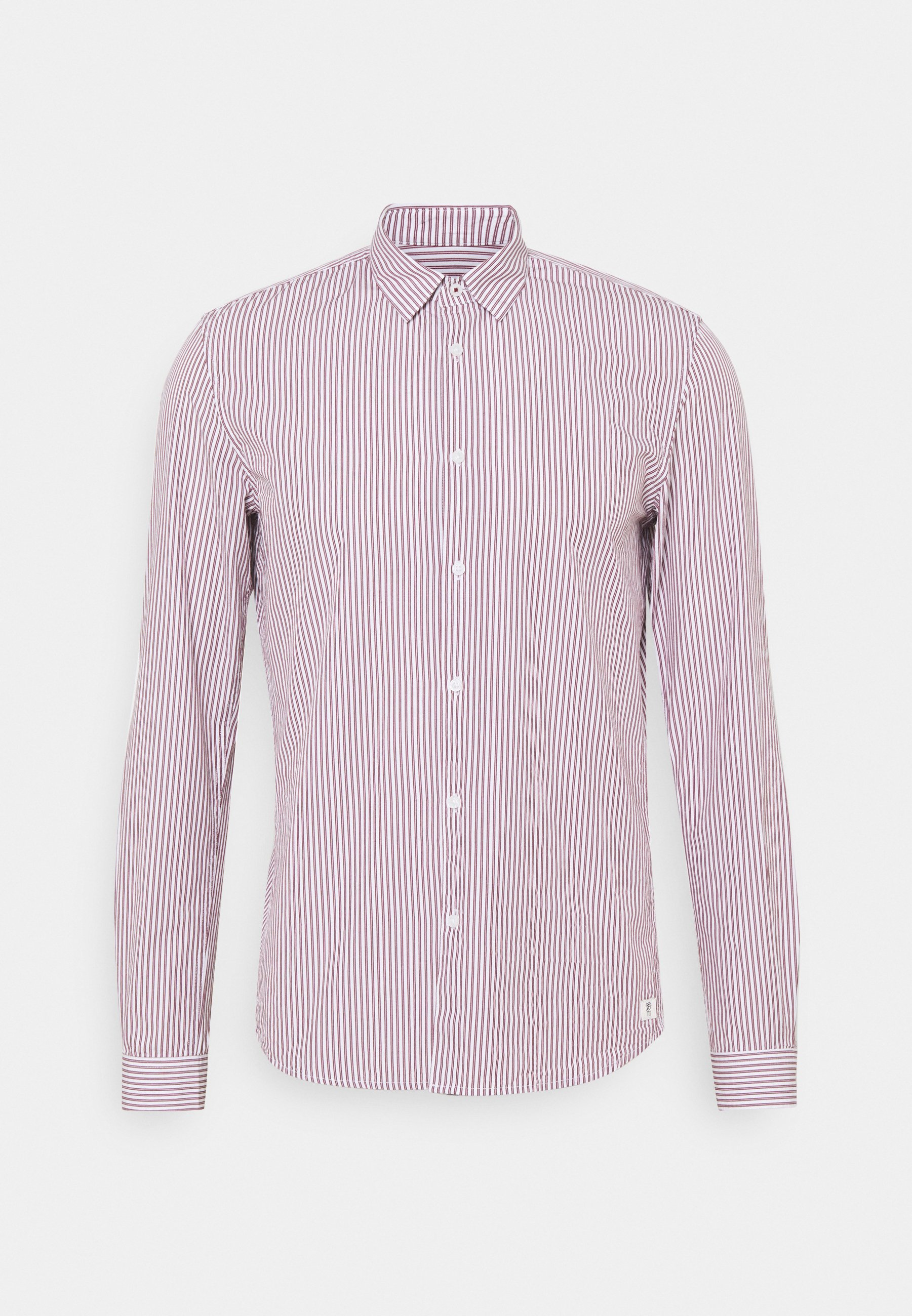 Men HIDDEN BUTTONDOWN COLLAR SHIRT - Shirt - bordeaux/white