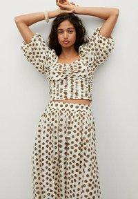 Mango - A-line skirt - offwhite - 4