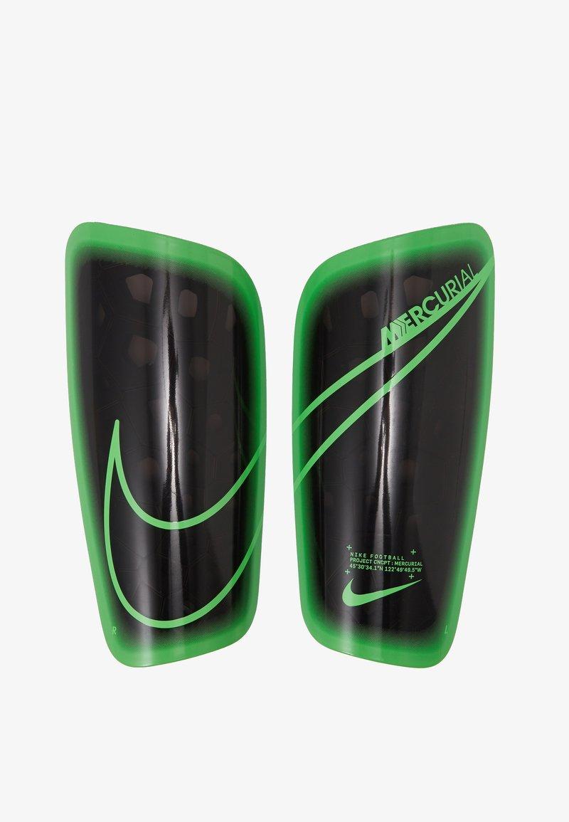 Nike Performance - MERCURIAL LITE UNISEX - Shin pads - black/green strike