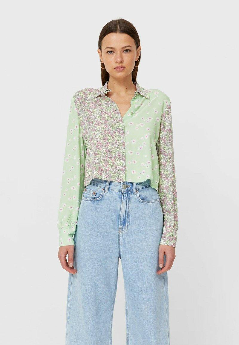 Stradivarius - Button-down blouse - mint