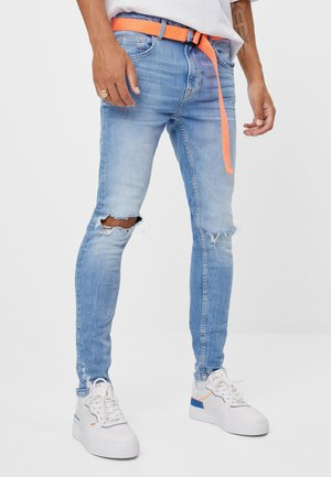 MIT RISSEN - Jeans Slim Fit - blue