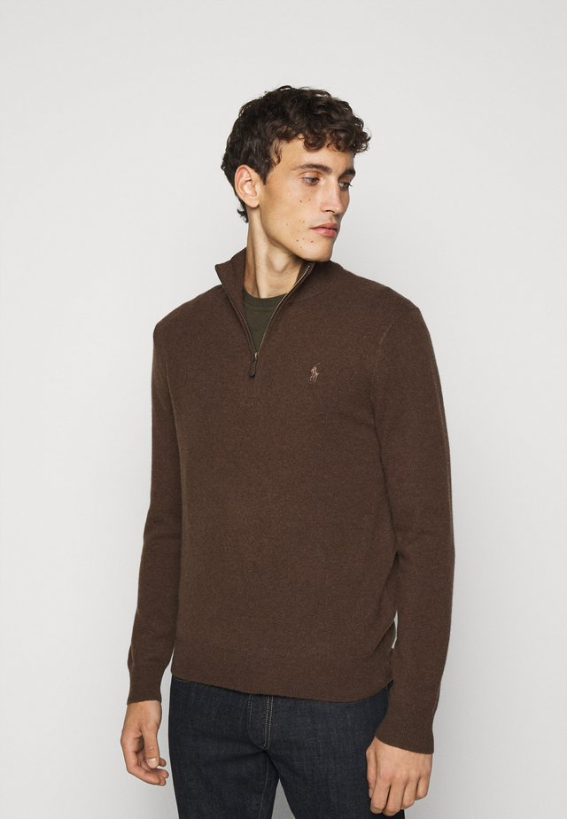 Strickpullover - brown heather