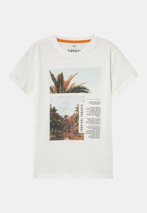 PEDRO - Print T-shirt - white