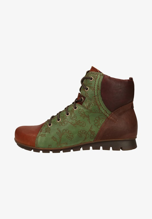 Boots à talons - cognac/kombi