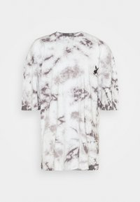 Missguided - PLAYBOY TIE DYE OVERSIZED DRESS - Vestido ligero - charcoal - 0