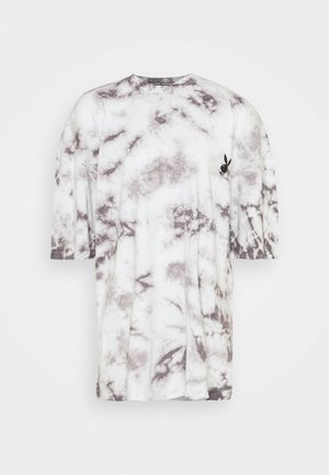 PLAYBOY TIE DYE OVERSIZED DRESS - Jerseyjurk - charcoal