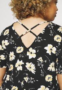 ONLY Carmakoma - BANDANA - Jersey dress - black/yellow - 3