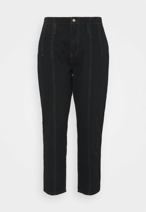 SEAM DETAIL MOM - Jeans relaxed fit - black