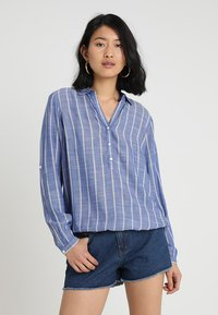 TOM TAILOR - ELASTIC WAIST - Blouse - dark blue - 0