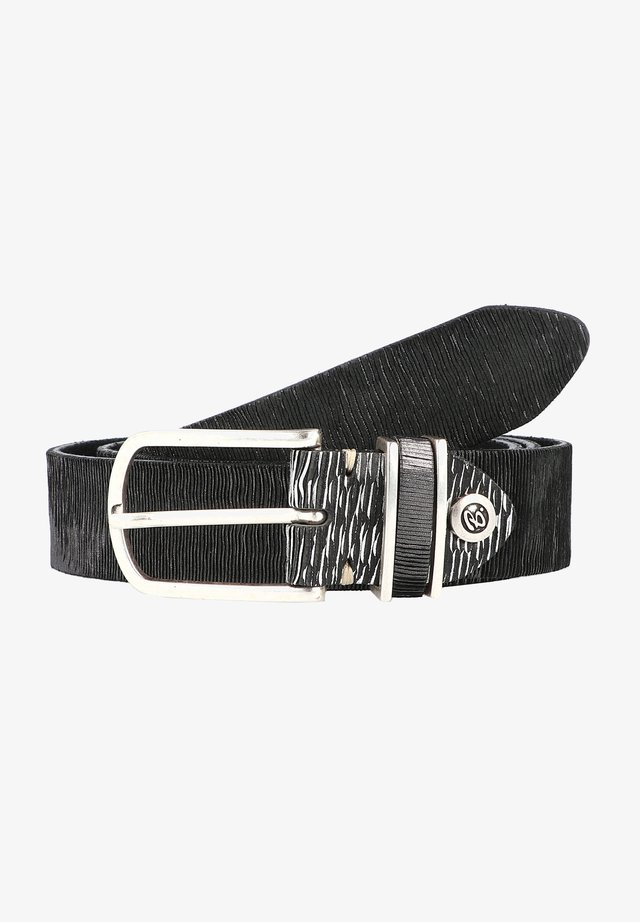 FASHION BASICS CUNO  - Cintura - schwarz/silbergraumetallic