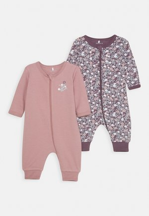 NBFNIGHTSUIT ZIP 2 PACK - Pyjamas - black plum