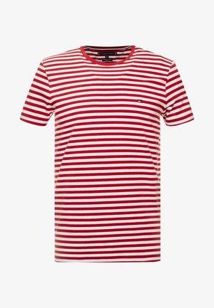 STRETCH SLIM FIT TEE - T-shirt basique - rhubarb/bright white