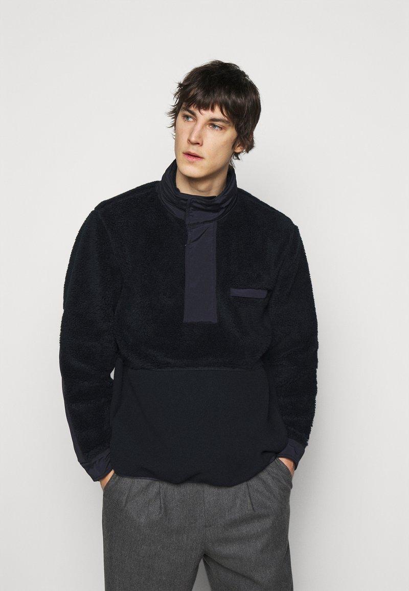 Theory - COLLINS ZIP - Fleece jacket - dark blue