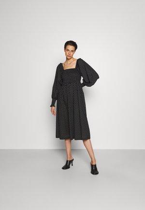 ASTER SMOCK DRESS - Vestito estivo - black