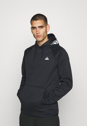 CROWN - Sweat à capuche - true black