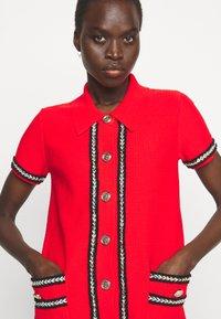 Pinko - FOOTBALL ABITO STRETCH - Shirt dress - red - 3