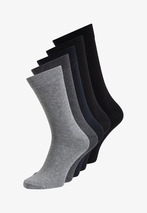 5 PACK - Strumpor - dark grey melange