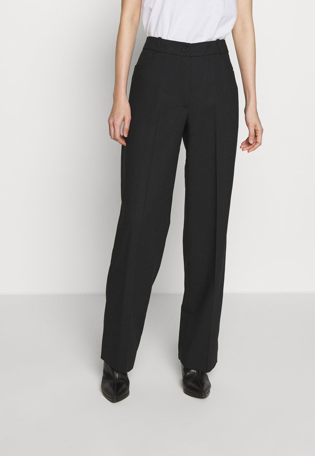 STRAIGHT LEG TROUSER - Bukser - black
