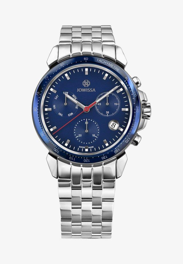Horloge - silber/blau