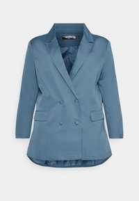 Missguided Plus - GRANDAD SIDE SPLIT  - Short coat - blue - 4