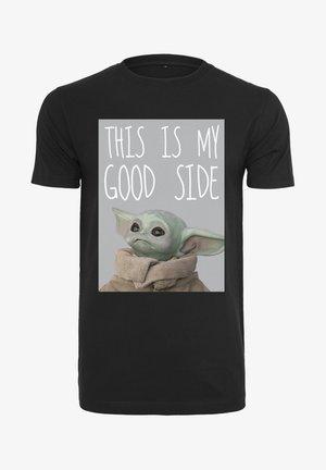 YODA GOOD SIDE TEE - Print T-shirt - black