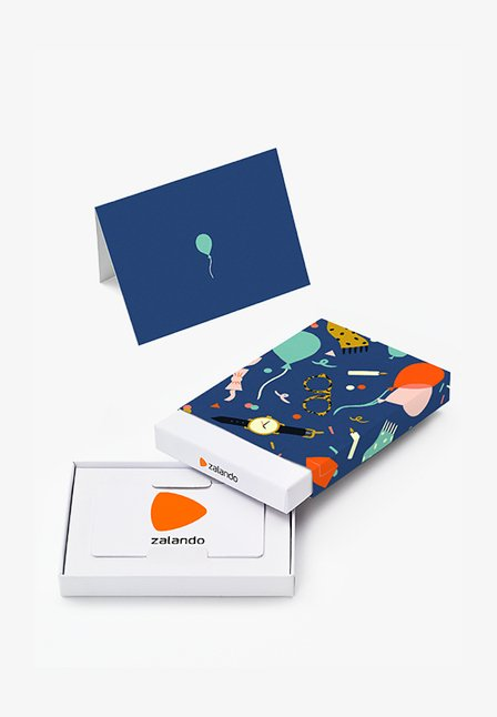 HAPPY BIRTHDAY - Box med presentkort - dark blue
