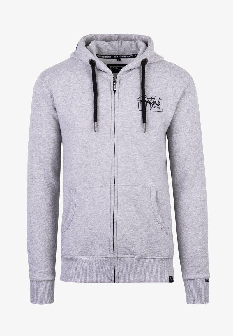 Spitzbub - VALENTIN - Zip-up sweatshirt - grau
