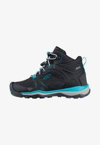 Keen - TERRADORA II MID WP - Hiking shoes - magnet/bluebird - 0