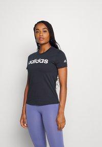 adidas Performance - Print T-shirt - legend ink/white - 0