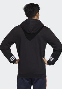 adidas Performance - ESSENTIALS COMFORT HOODED TRACK TOP - Zip-up hoodie - black - 1