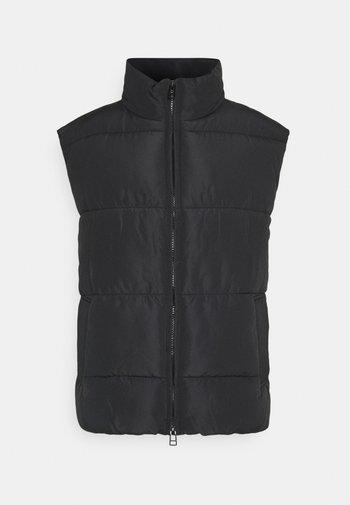 LACY VEST - Waistcoat - black dark