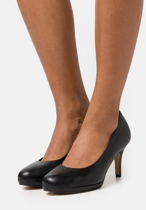 COURT SHOE - Classic heels - black matt