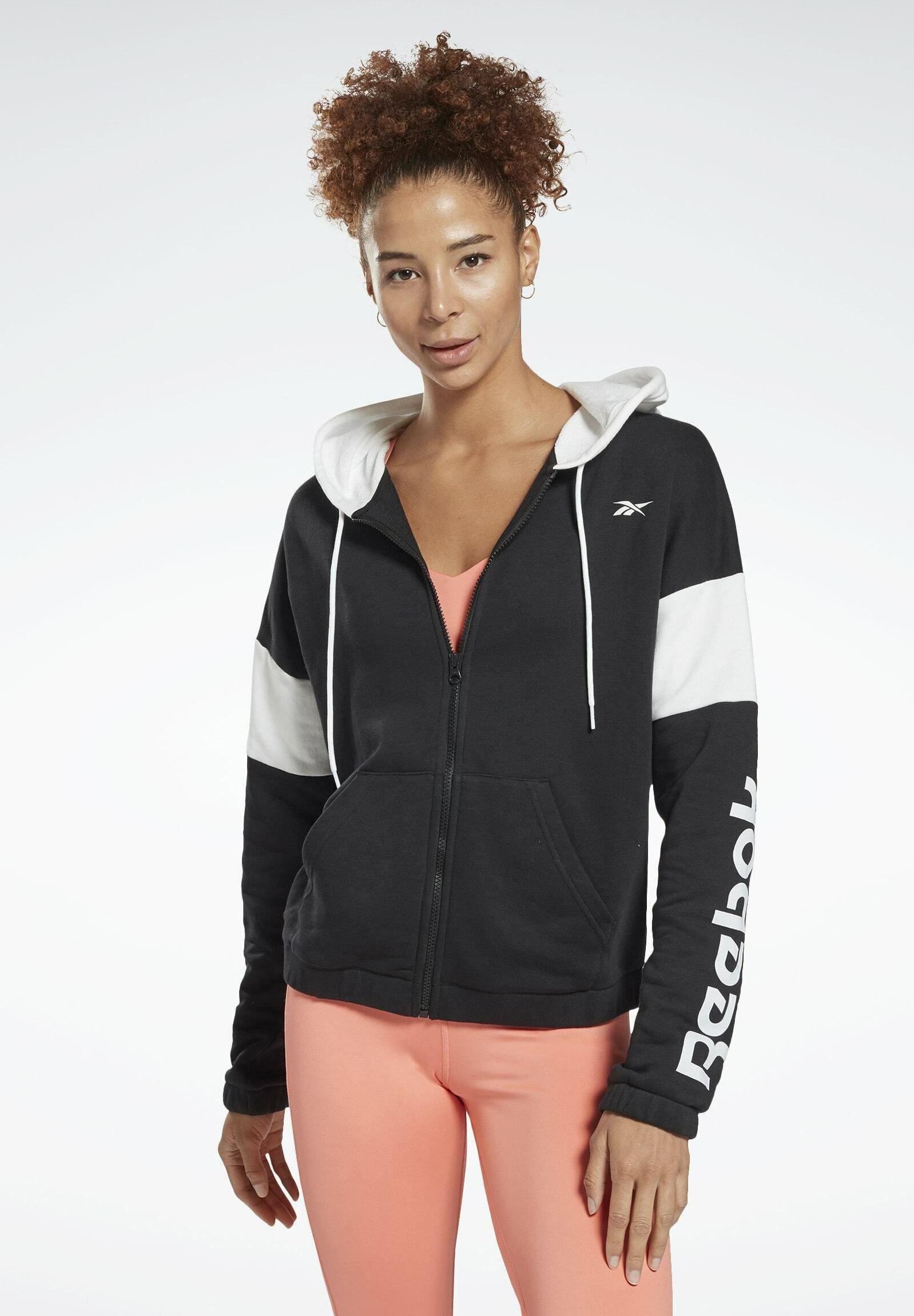 Women LINEAR LOGO FRENCH TERRY ZIP UP HOODIE - Zip-up sweatshirt